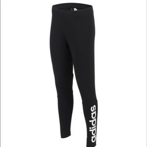 Adidas Linear Tights in black. Size M
